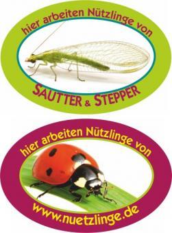"""Aufkleber """"Biologischer Pflanzenschutz mit Nützlingen"""""""