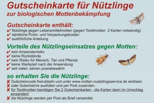 Gutscheinkarten Mottenbekämpfung